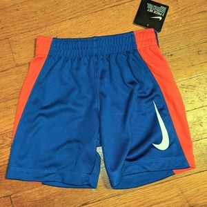 NWT Nike shorts 3T blue and red